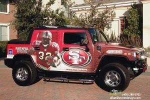 San Francisco 49ers Hummer H2 Wrap