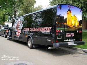 Santa Clara University Bus Wrap